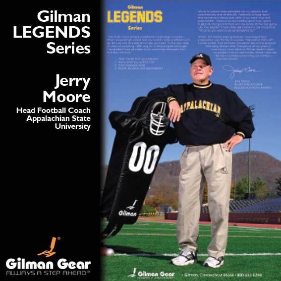 Jerry Moore, Head Football Coach, Appalachian State University, Gilman Legends Posters