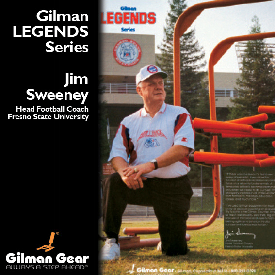 Jim Sweeney, Head Football Coach, Fresno State University, Gilman Legends Posters_LARGE