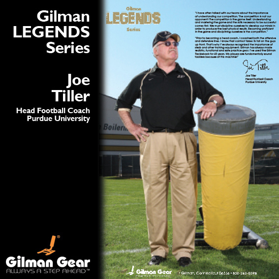 Joe Tiller, Head Football Coach, Purdue University, Gilman Legends Posters