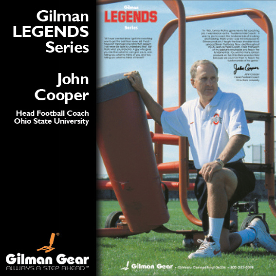 John Cooper, Head Football Coach, Ohio State University, Gilman Legends Posters