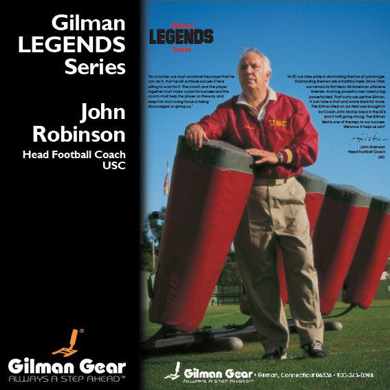 John Robinson, Head Football Coach, USC, Gilman Legends Posters