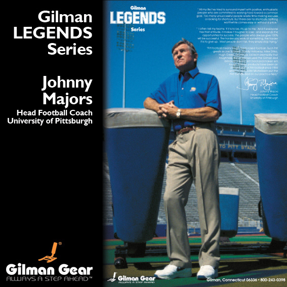 Johnny Majors, Head Football Coach, University of Pittsburgh, Gilman Legends Posters