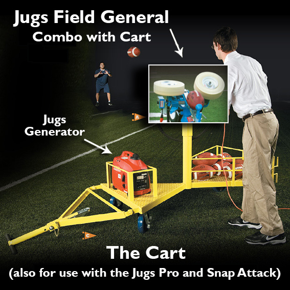Jugs Combo General, Jugs Cart, football machine