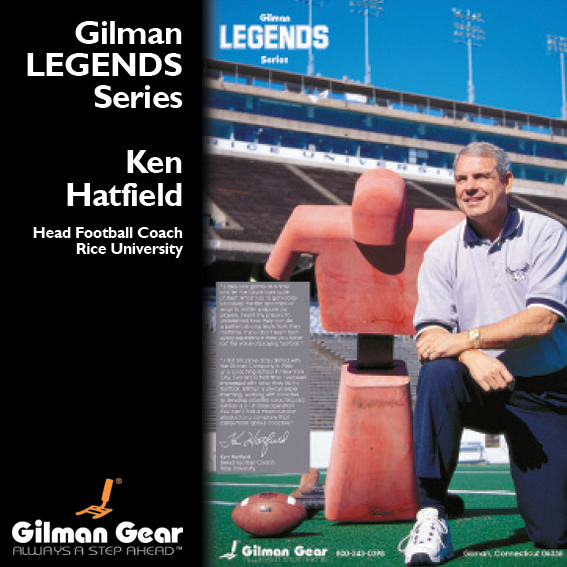 Ken Hatfield, Head Football Coach, Rice University, Gilman Legends Posters