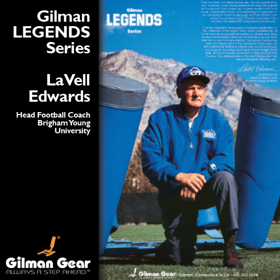 Lavell Edwards, Head Football Coach, Brigham Young Umiversity, Gilman Legends Posters