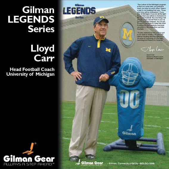 Lloyd Carr, Head Football Coach, University of Michigan, Gilman Legends Posters