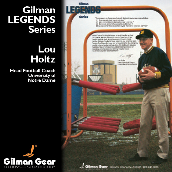 Lou Holtz, Head Football Coach, University of Notre Dame, Gilman Legends Posters