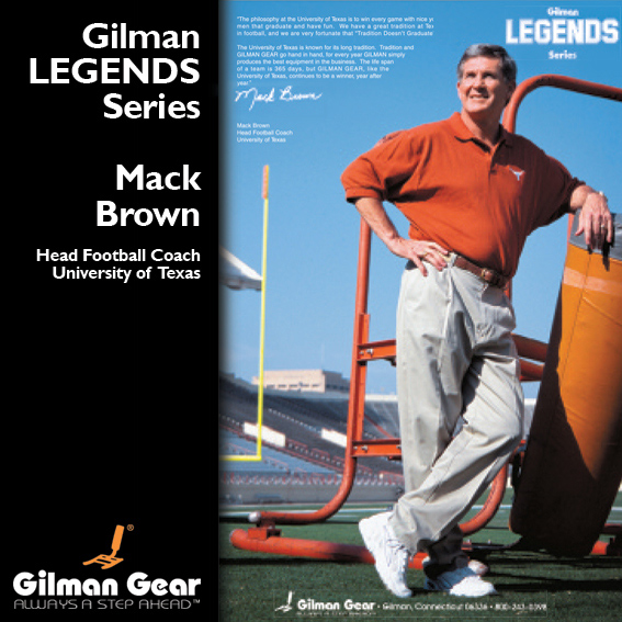 Mack Brown, Head Football Coach, University of Texas, Gilman Legends Posters