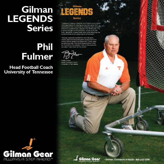 Phil Fulmer, Head Football Coach, University of Tennessee, Gilman Legends Posters