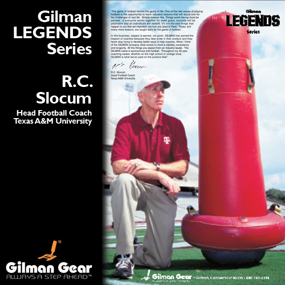RC Slocum, Head Football Coach, Texas A&M University, Gilman Legends Posters