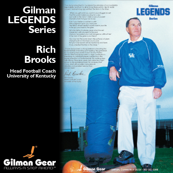 Rich Brooks, Head Football Coach, University of Kentucky, Gilman Legends Posters