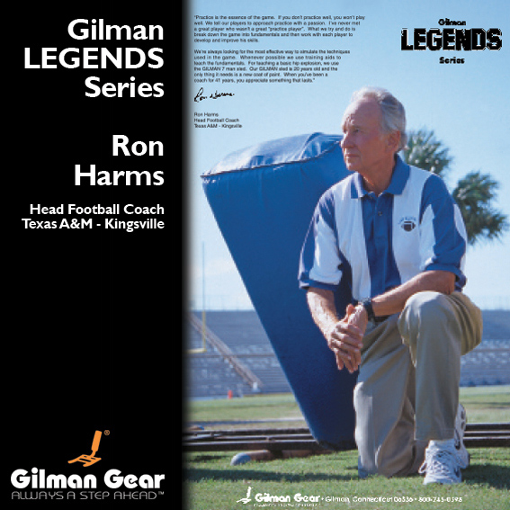 Ron Harns, Head Football Coach, Texas A & M - Kingsville, Gilman Legends Posters