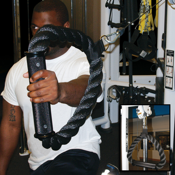 Functional Power Grip - exercise machine rope loop
