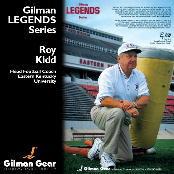 Roy Kidd, Head Football Coach, Eastern Kentucky University, Gilman Legends Posters