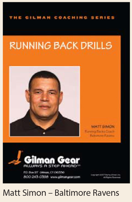 Coaching Series Instructional DVD: Running Back Drills, Matt Simon, Baltimore Ravens LARGE