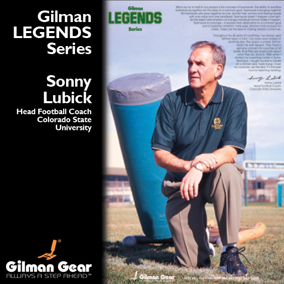 Sonny Lubick, Head Football Coach, Colorado State University, Gilman Legends Posters