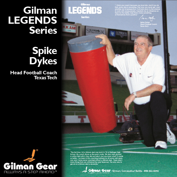 Spike Dykes, Head Football Coach, Texas Tech, Gilman Legends Posters