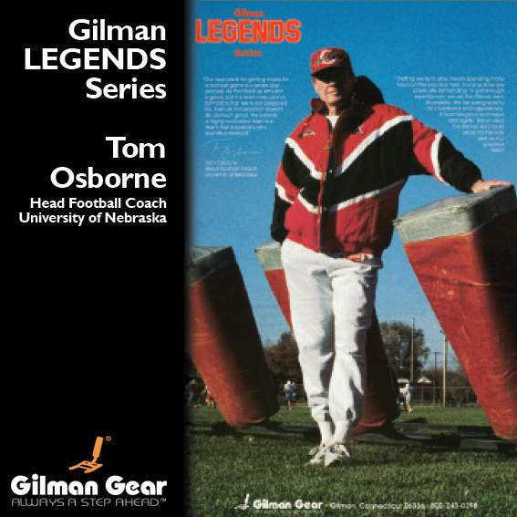 Tom Osbourne - Gilman Legends Posters LARGE