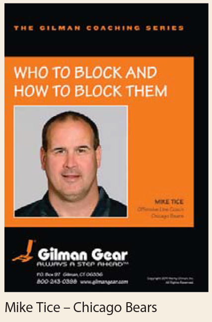 Coaching Series, Instructional DVD: Who To Block and How To Block Them- Mike Tice, Chicago Bears LARGE