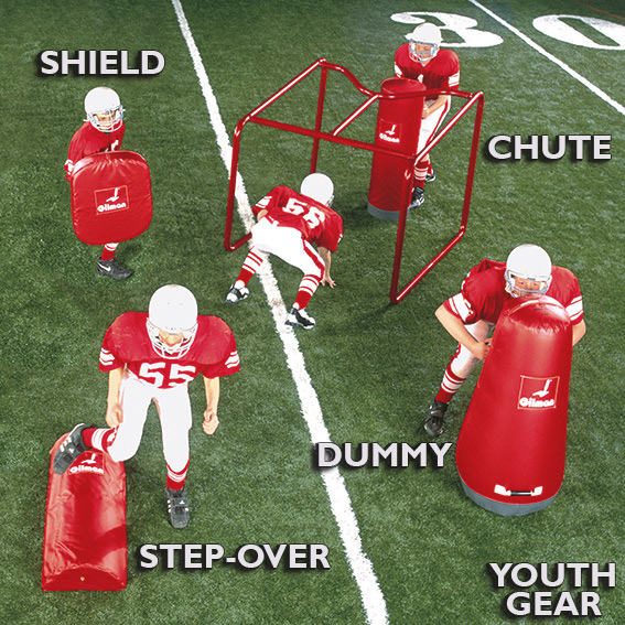 Youth Chute, Youth Throwback, Youth Shield, Youth Dummy, Youth Step-Over LARGE