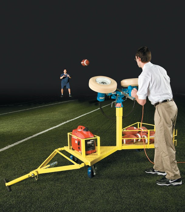 Jugs Cart, Jugs Pro, football machine, football passing machine, football throwing machine, football practice machine