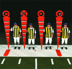 The Pro Set NFL Bullseye Markers