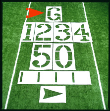 Football Field Stencils THUMBNAIL