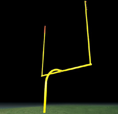 Pro Goal Steel Goal Post LARGE