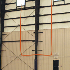 Suspension Goal Net - indoor football goal net