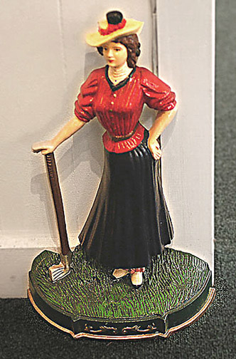Doorstop - Woman Golfer