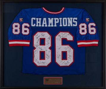 NY Giants Autographed Jersey MAIN