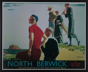 North Berwick Travel Poster