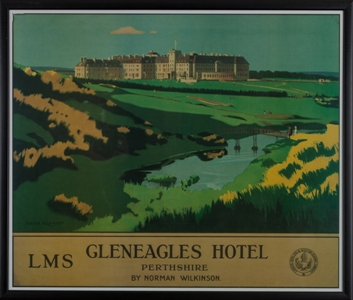 Gleneagles Hotel Travel Poster