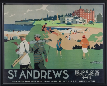 St Andrews Travel Poster MAIN