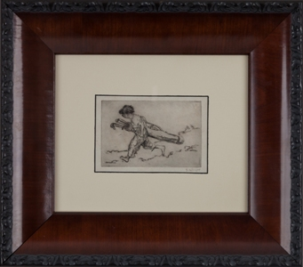 Original George Hand Wright Golf Print