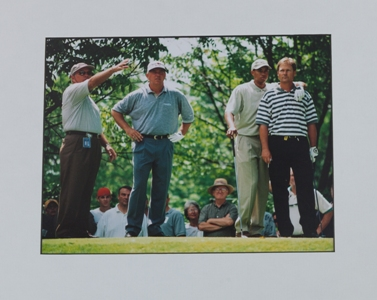 Butch Harmon, Mark O'Meara, Tiger Woods and John Cook