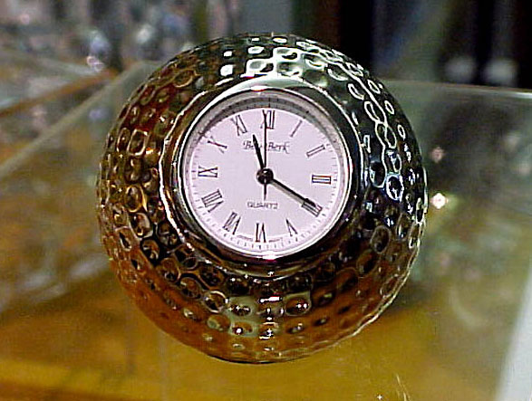 Silver Golf Ball Clock