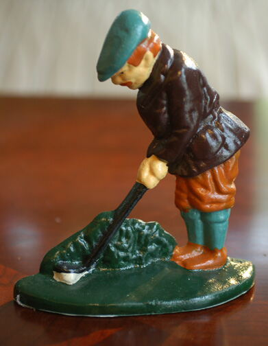 Doorstop - Golfer In The Rough THUMBNAIL