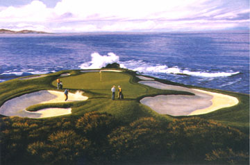 Pebble Beach 7th by Harris