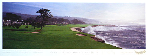 Pebble Beach 18th by Drickey