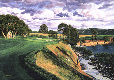 Pebble Beach 5th by Harris