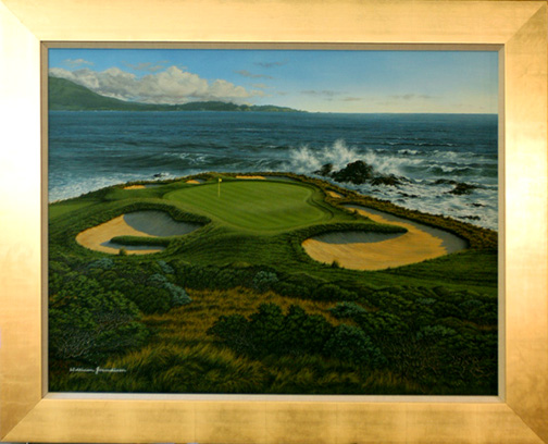 Pebble Beach 7th by Grandison THUMBNAIL
