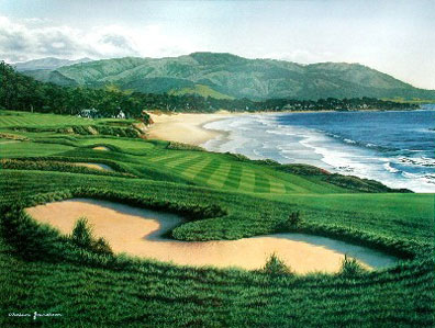 Pebble Beach 9th by Grandison THUMBNAIL