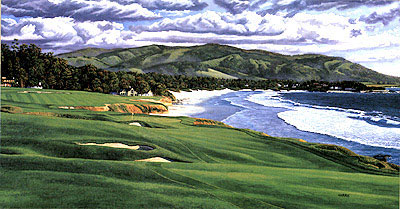 Pebble Beach 9th by Harris