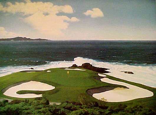 Pebble Beach 7th by Day