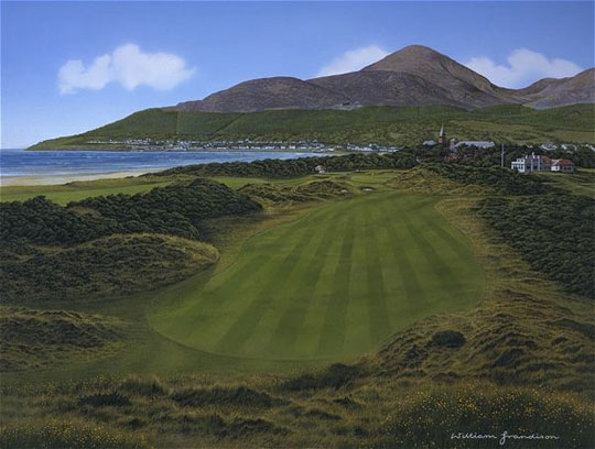 Royal County Down 9th hole by Grandison