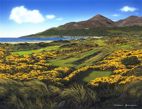 Royal County Down 4th hole by Grandison THUMBNAIL