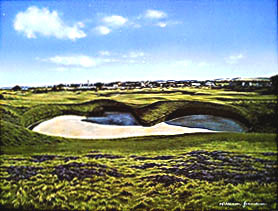 "St. Andrews ""Hell Bunker""by Grandison THUMBNAIL"
