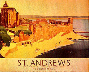 St. Andrews Rail Poster #1 MAIN