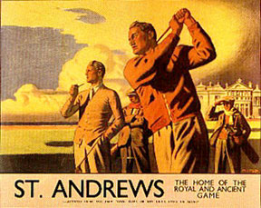St. Andrews Rail Poster #2